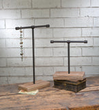 Small Industrial T-Bar Jewelry Stand