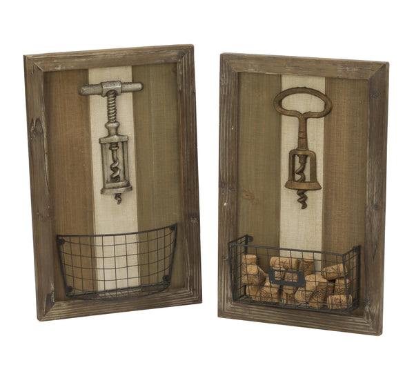 Corkscrew Wall Art - 2 Piece Set