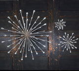Large Silver Starburst Wall Art