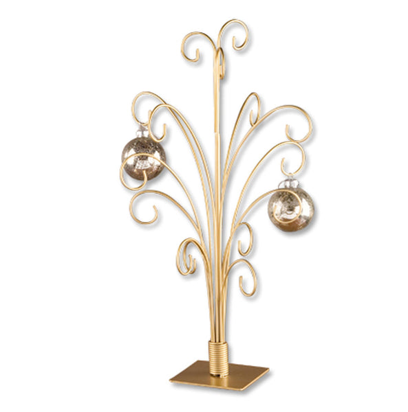 12 Arm Gold Ornament Tree