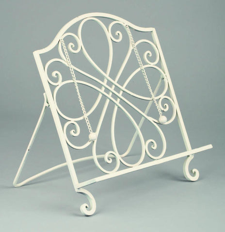 White Cookbook Stand