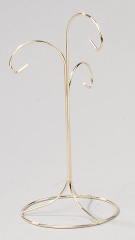 Brass 3 Arm Ornament Tree