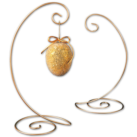 Gold Spiral Ornament Tree