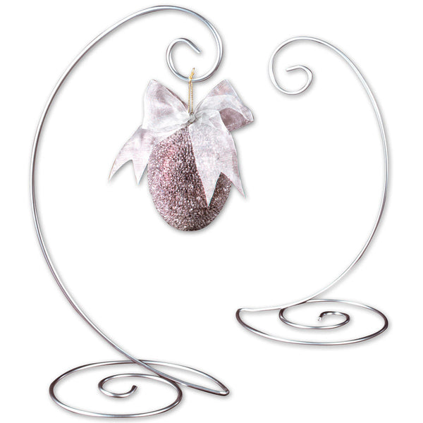Silver Spiral Ornament Tree