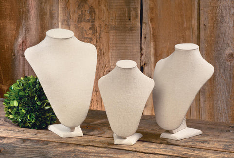 Cream Linen Neck Forms
