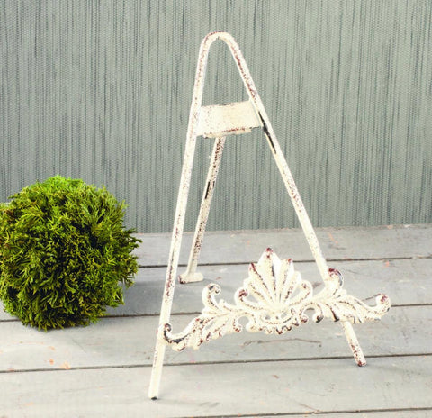 Distressed White Easel with Cast Design