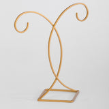 Gold Painted Finish Diamond Base Stand
