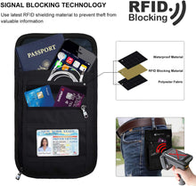 RFID Blocking Passport Holder Travel Neck Pouch Neck Wallet for Women & Men to Keep Your Cash and documents Safe