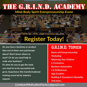 The G.R.I.N.D. Academy Event (V.I.P. Ticket)