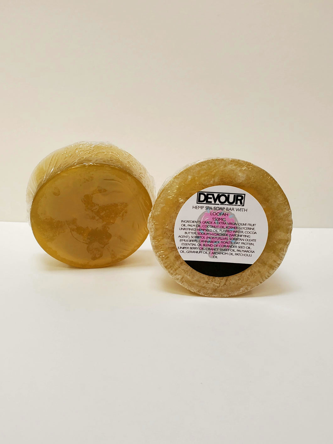 Hemp Soap Bar with Loofah Insert
