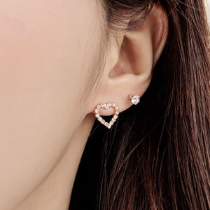 Amore Rose Gold Heart Set