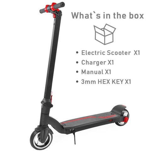 XPRIT Foldable Electric Portable Folding Kick Scooter w/ 6.5