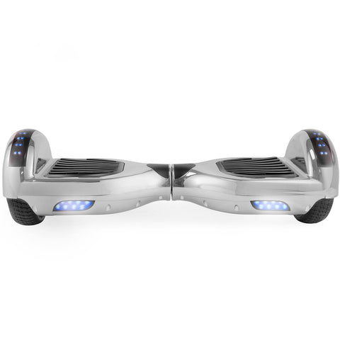 Z1 Plus Silver Safe Hoverboard UL2272 certified with Bluetooth Speaker Free Shipping. - HoverBoard4sale