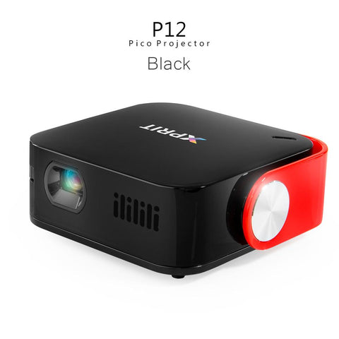 XPRIT Portable Smart Projector with Wi-Fi & Bluetooth, Android 7.1, Remote Control Included ( Black )