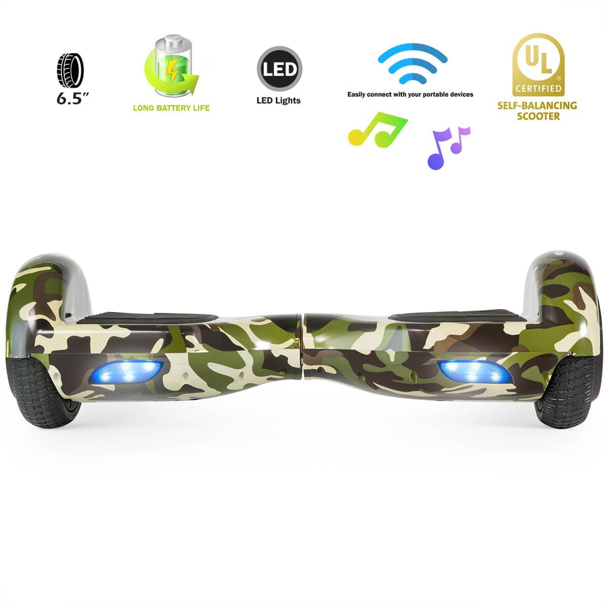XPRIT SBW666 Camouflage Hoverboard with Bluetooth - HoverBoard4sale
