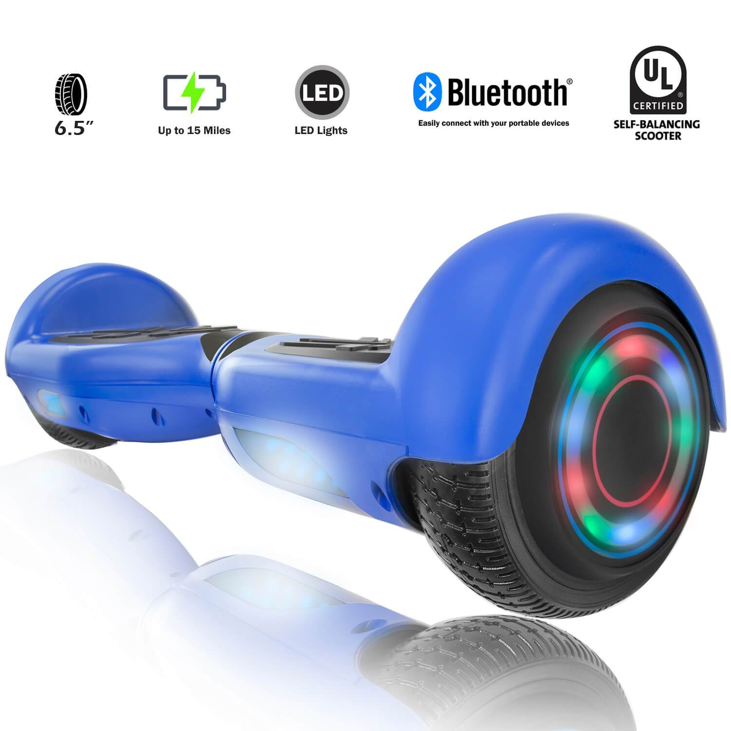 XPRIT SBW666 Blue Hoverboard with Bluetooth - HoverBoard4sale