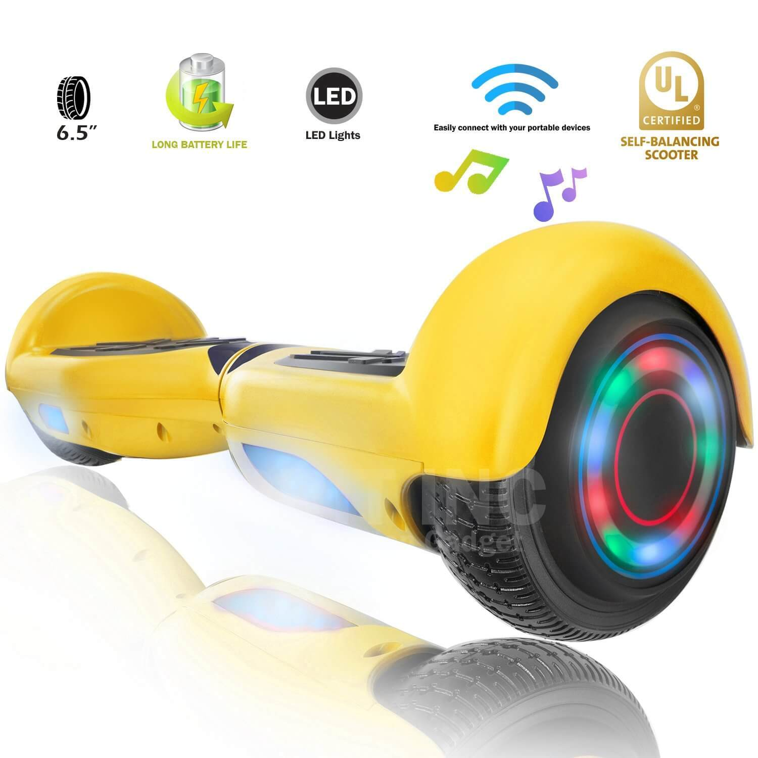 XPRIT SBW666 Yellow Hoverboard with Bluetooth - HoverBoard4sale