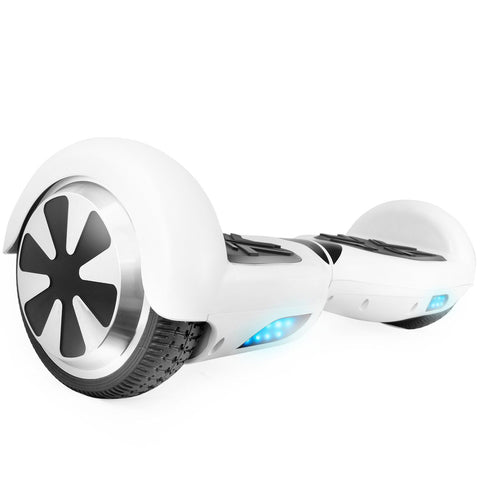 "T6SE White Hoverboard with 6.5"" Wheels Self Balancing UL2272 Certified - HoverBoard4sale"