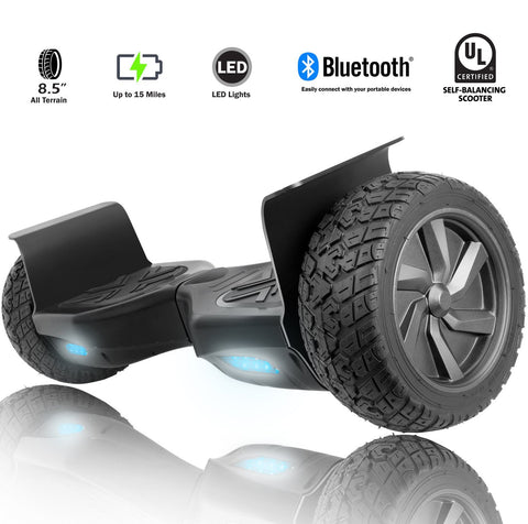 "H4S 8.5"" Wheels Black Off-Road Hoverboard with UL2272 Certied - HoverBoard4sale"