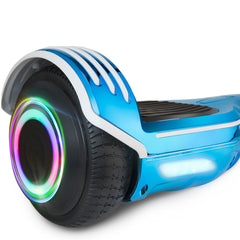 XPRIT Chrome Blue Hoverboard with Bluetooth Speaker, LED Wheels - HoverBoard4sale
