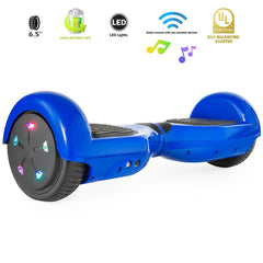"XPRIT 6.5"" Wheel Hoverboard w/Bluetooth, Flash Wheel (Blue) - HoverBoard4sale"