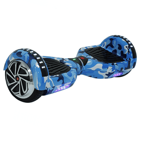 Hoverboard UL2272  Certified (Blue Camo x6) Bluetooth + LED Lights - HoverBoard 4sale