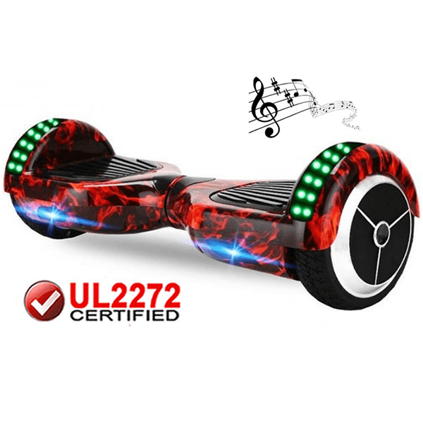 Hoverboard UL2272 certified  (Flame X6)  Bluetooth + LED Lights - HoverBoard4sale