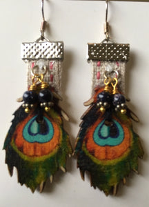 Glorious peacock earrings