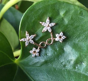 Dainty flower crystal earrings