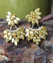 Yellow crystal earrings