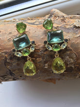Chunky green earrings