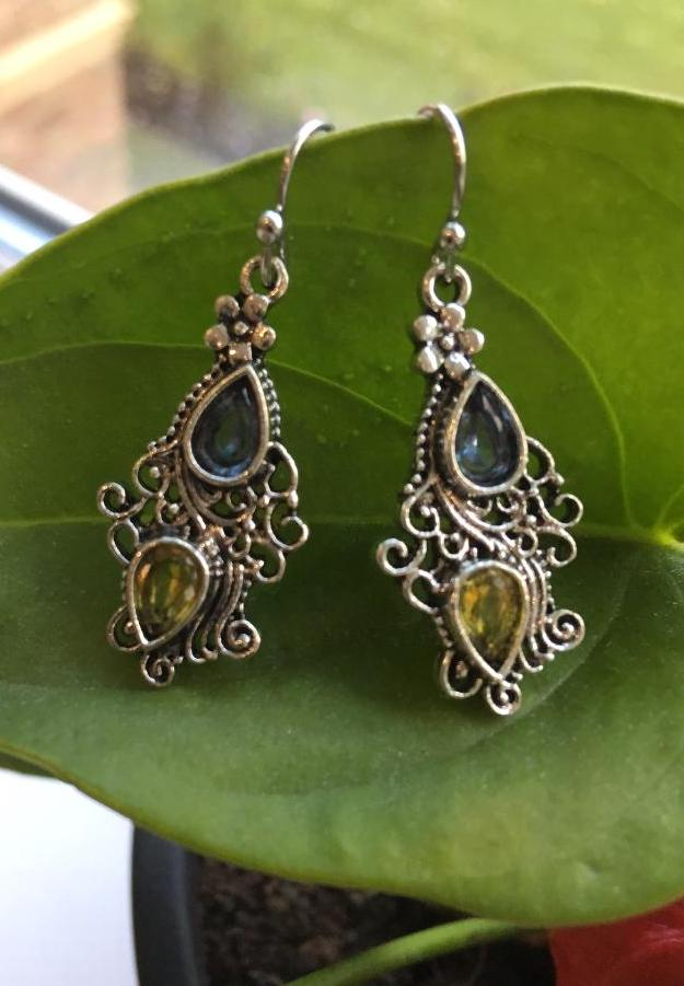 Ornate alloy earrings