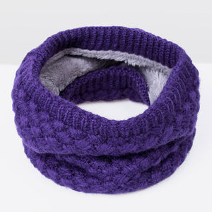Purple neck warmer
