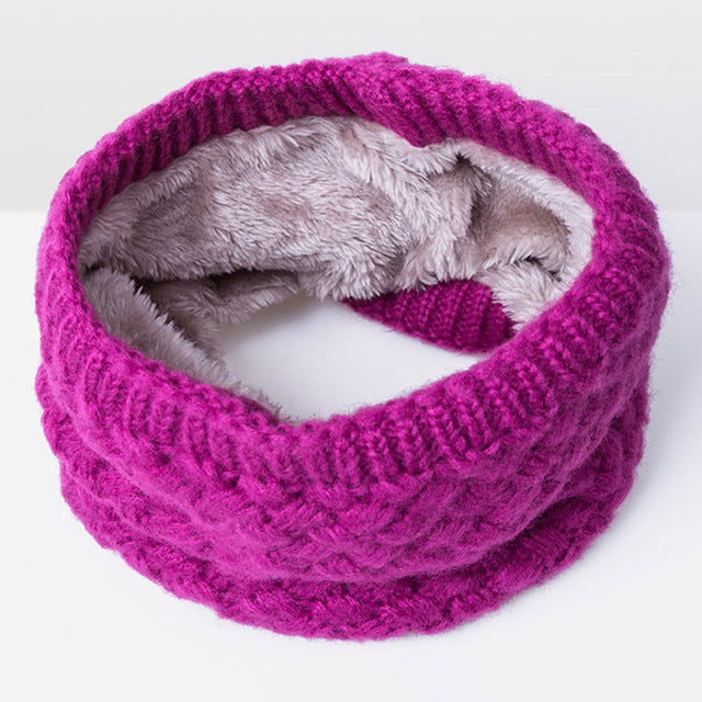 Fuchsia neck warmer