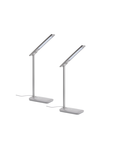 2 Pack LED Lamp with Wireless Charging Base