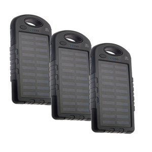 3 pack solar powerbank
