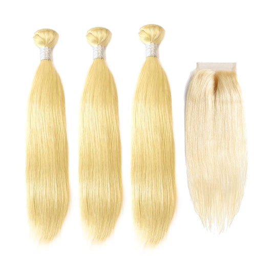 Straight Brazilian Blond Hair Bundles for 100% Human Hair Weaving - Brazil-Hair-Shop