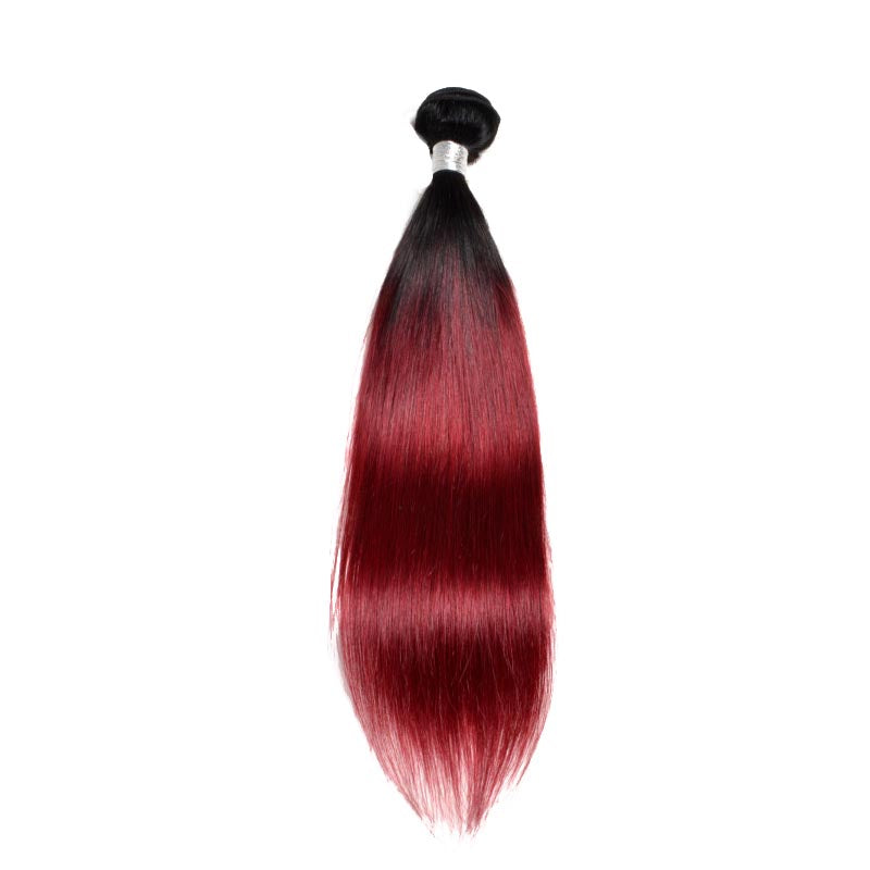 Brazilian Weaving Burgundy Smooth Black 100% Natural Human Hair Wick - Brazil-Hair-Shop
