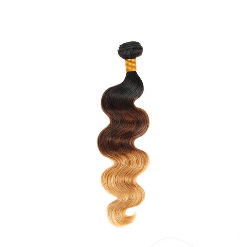 Brazilian weaving 3 tones wavy in 100% natural human hair wick - brazil-hair-shop