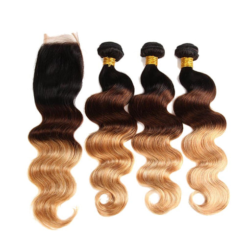Lot brazilian wavy weave 3 colors for 100% human hair weaving - brazil-hair-shop