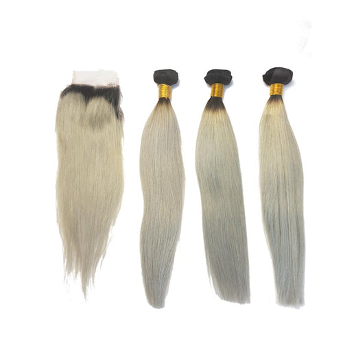 Lots Brazilian Black / Smooth Gray Meche for Human Hair Weaving 100% Natural - Brazil-Hair-Shop