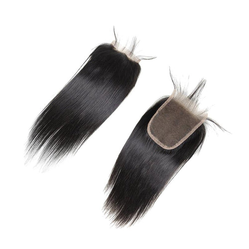 Black Smooth Closure in Natural Brazilian Hair - Brazil-Hair-Shop