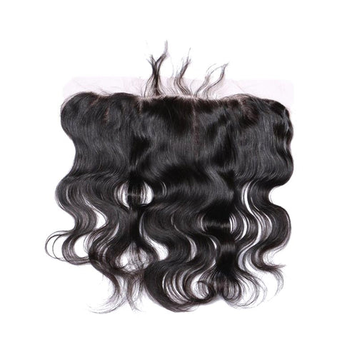Wavy lace frontal in natural Brazilian hair - brazil-hair-shop