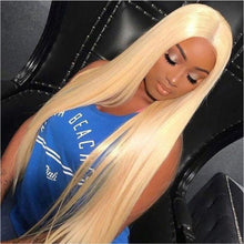 Straight Blonde Lace Front in Natural Brazilian Hair - Brazil-Hair-Shop