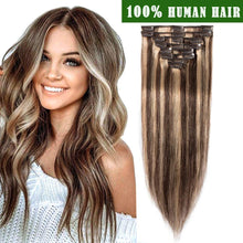Extension Clips 120Gr en Cheveux Brésilien 100% Humain - Brazil-Hair-Shop