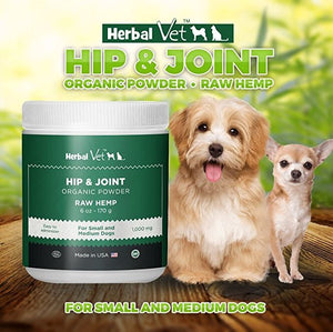 Hip & Joint Powder Supplement for Small and Medium Sized Dogs - Certified Organic