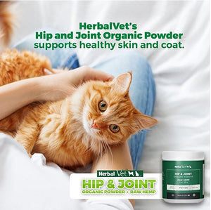 Hip & Joint Powder Supplement - For Cats - Certified Organic