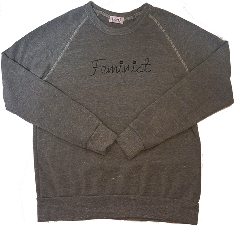 Grey Feminist Eco Fleece Sweatshirt