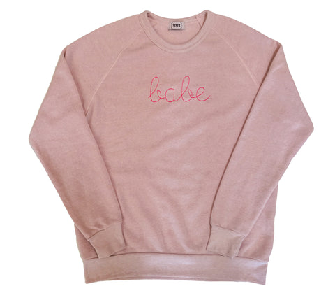 "Pink ""Babe"" Eco Fleece Sweatshirt"