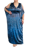 Ice Blue Velvet cold shoulder dress